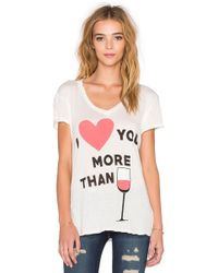 Wildfox I Love You More Than Tee - Lyst