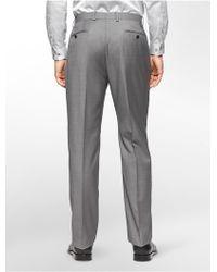 CALVIN KLEIN 205W39NYC - White Label Body Slim Fit Grey Sharkskin Suit Pants - Lyst