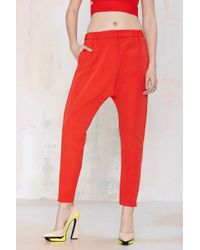 Nasty Gal Cameo West Coast Trouser - Red - Lyst