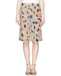 Chloé Geometric Print Silk Skirt - Lyst