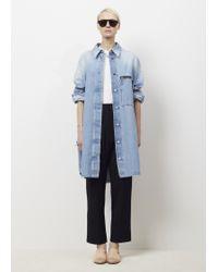 MM6 by Maison Martin Margiela | Blue Bleach Stone Washed Dress | Lyst