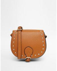 Carvela Kurt Geiger - Studded Mini Saddle Bag - Lyst