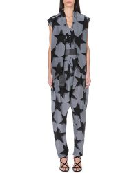Vivienne Westwood Anglomania Discovery Star Print Jumpsuit Black Grey 3d Stars - Lyst