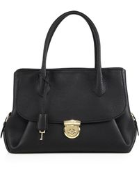 Ferragamo | Fiamma Medium Pebbled Leather Tote | Lyst