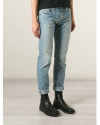 McQ by Alexander McQueen Distressed Slim Fit Jeans - Lyst
