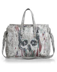 Alexander McQueen Skull-Print Weekend Bag - Lyst