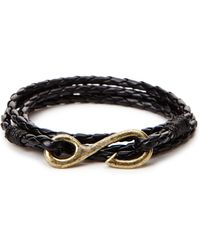 Forever 21 | Braided Faux Leather Hook Bracelet | Lyst