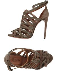 Alaïa Khaki Sandals - Lyst