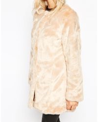Oasis | Collarless Faux Fur Jacket | Lyst