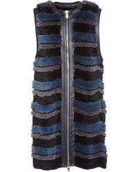 Sonia Rykiel Knitted Tricot Rex Gilet - Lyst