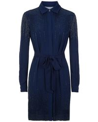 Diane von Furstenberg - Prita Embellished Shirt Dress - Lyst