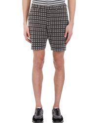 Marc By Marc Jacobs - Grid-Pattern Nubby Bermuda Shorts - Lyst