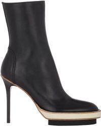 Ann Demeulemeester Double-Platform Ankle Boots - Lyst