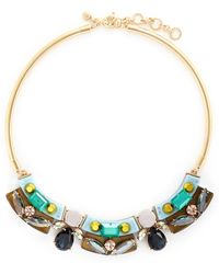 J.Crew | Lucite-and-crystal Collar Necklace | Lyst