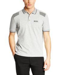 Boss Green Paddy Mk  Modern Fit Moisture Manager Stretch Cotton Blend Polo Shirt - Lyst