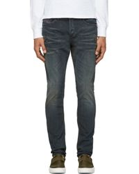 Diesel  Faded and Distressed Tepphar Jeans - Lyst
