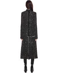 Proenza Schouler Beaded Dot Embroidery Long Sleeve Long Dress - Lyst