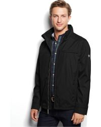 Calvin Klein 3 Seasons Weather-Resistant Coat black - Lyst