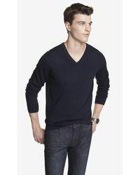 Express Merino Wool V-Neck Sweater - Lyst