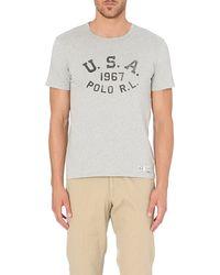 Ralph Lauren Cottonjersey T-shirt Pointe Grey Hea - Lyst