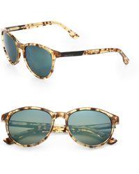 Diesel 54mm Oversized Vintage Round Sunglasses - Lyst