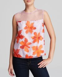 Rebecca Taylor Top - Illusion Floral - Lyst