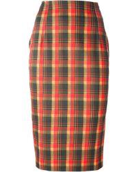Altuzarra Checked Pencil Skirt - Lyst
