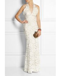 Lover Mia Eternity Lace and Silk Gown - Lyst