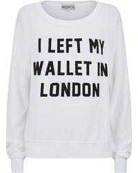 Wildfox I Left My Wallet in London Sweater - Lyst