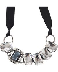 Lanvin - Large Multistone Choker Necklace - Lyst