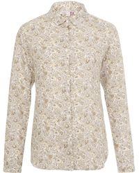 Uniqlo - Betsy Grey Printed Premium Linen Shirt - Lyst