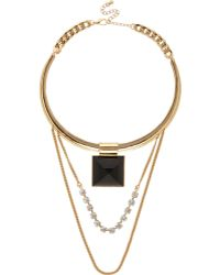River Island Gold Tone Chain Choker Necklace - Lyst