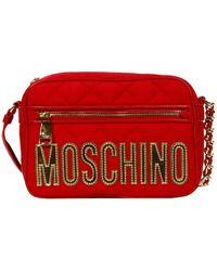 Moschino Handbag Nylon Quilted Crossbody - Lyst