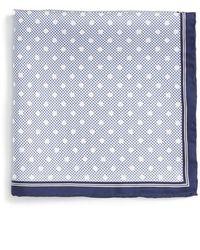 Robert Talbott - Dot Print Silk Pocket Square - Lyst