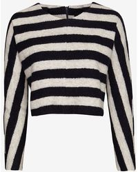 Nicholas - Nicholas Exclusive Wool Striped Cropped Sweater - Lyst