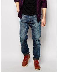 Diesel Jeans Buster 841H Regular Slim Fit Dark Distress Foam Wash - Lyst