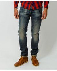 G-Star RAW 3301 Slim Blue Stretch Jeans blue - Lyst