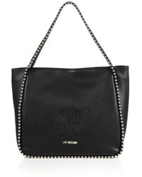 Love Moschino Studded Faux Leather Tote - Lyst