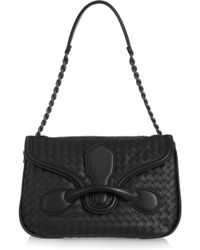 Bottega Veneta Rialto Medium Intrecciato Leather Shoulder Bag - Lyst