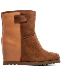 Marc By Marc Jacobs Winter Warming 50 Mm Wedge Booties - Lyst