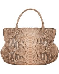 Zagliani | Python Bacio Medium Shoulder Bag | Lyst