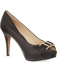 Nine West Celestine Peep Toe Heels - Lyst