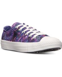 Converse Womens Chuck Taylor Ox Feather Casual Sneakers From Finish Line - Lyst