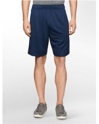Calvin Klein White Label Performance Reflective Training Shorts blue - Lyst