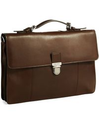 Cole Haan Fold Over Buckle Briefcase - Lyst
