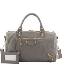 Balenciaga Giant 12 Golden Boston Crossbody Bag Gris Pyrite - Lyst