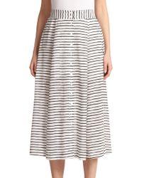 Nanette Lepore Silk Au Revoir Skirt - Lyst