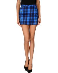 Acne Studios Blue Mini Skirt - Lyst