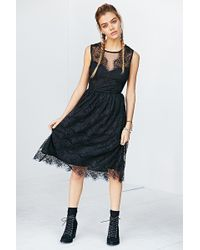 Kimchi Blue | Sheer Lace Bodice Midi Dress | Lyst