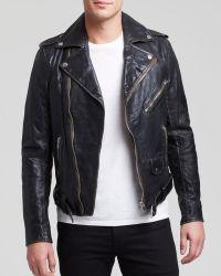 Diesel L-Umenirok Vintage Leather Jacket - Lyst